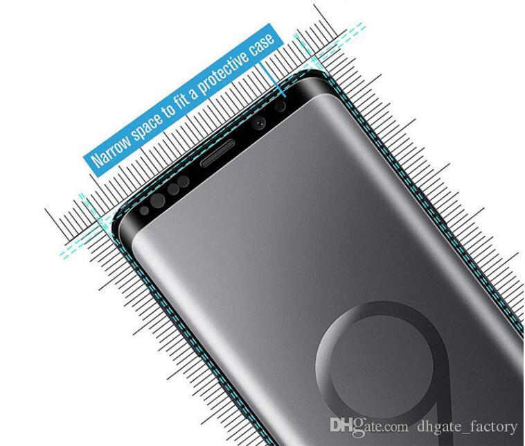 2019 강화 유리 케이스 삼성 Note 9 8 S9 S8 Plus S7 S6 가장자리 보호 글라스 스크린 프로텍터 Galaxy On Not 8s 9s 7s S 9 8 7 6 무료