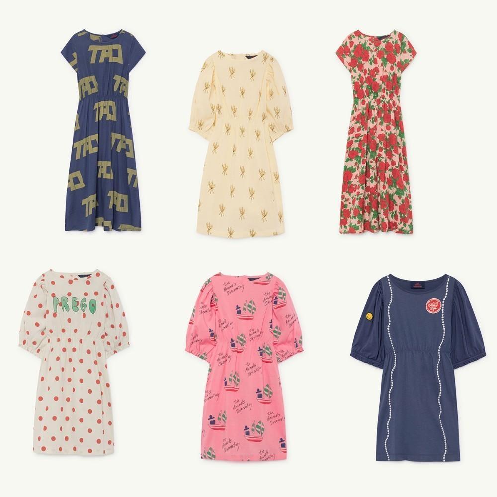Çocuklar Elbise 2019 TAO İlkbahar Yaz Kız Kısa Kollu Çiçek Baskı Prenses Elbiseleri Bebek Çocuk Yeni Harf Pamuk Elbise