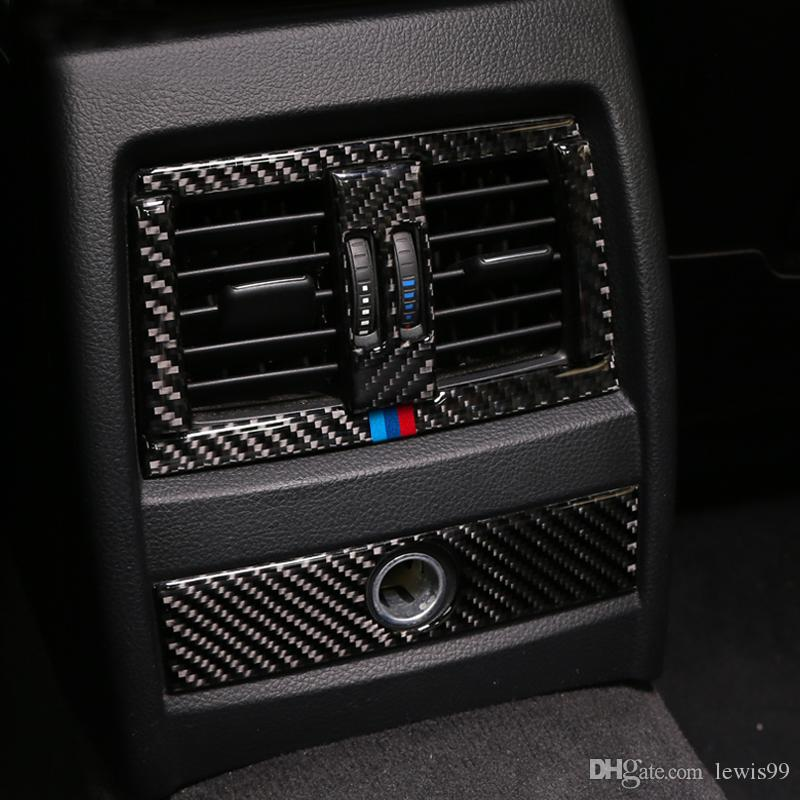 Carbon Fiber Car Center Console Air Conditioning Outlet Vent Decorative Cover Frame Stickers for bmw f30 f34 3GT 3 Series