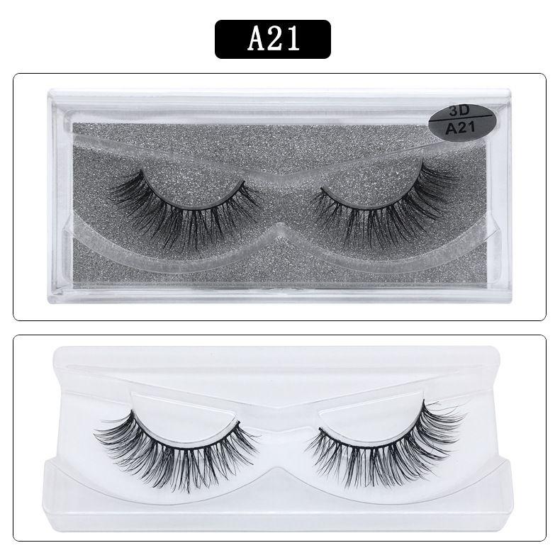 DHL free shipping A series A21 3D Real mink Eye Lashes Thick false Eyelashes a pair of false eyelashes with Crystal box