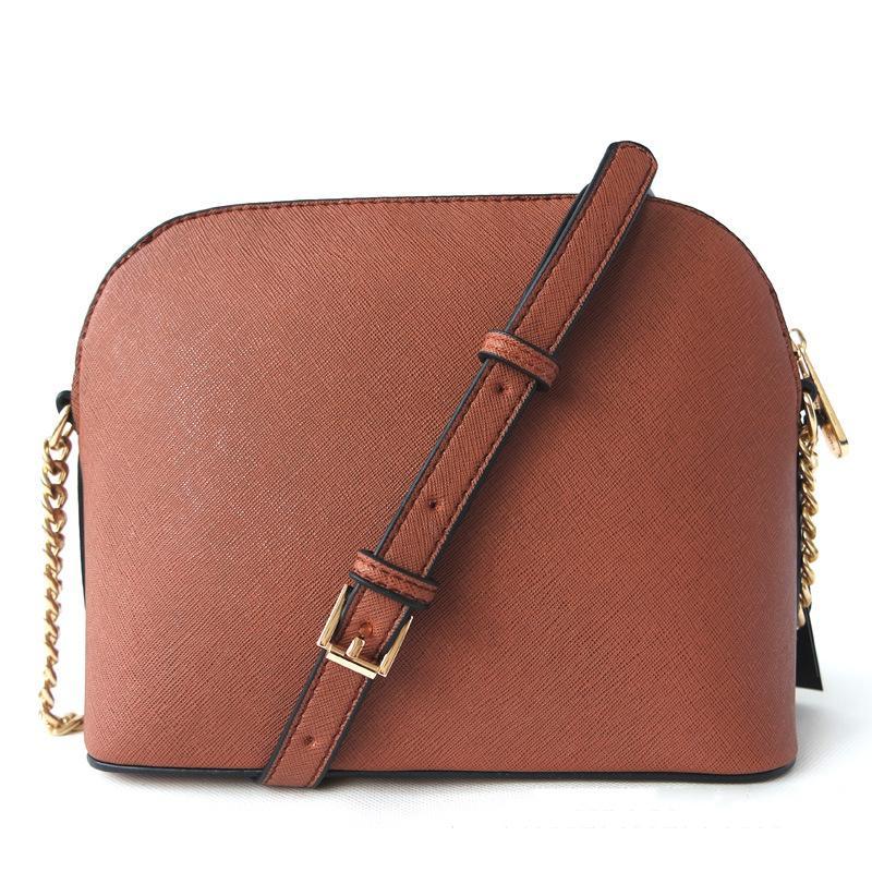 Frete grátis Sacos de Marca mulheres europeias e americanas de moda Designer Shell Bag PU ouro Chain Letter um ombro Messenger Bag