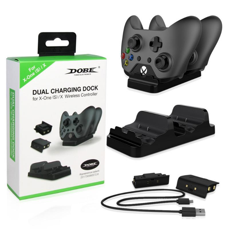 XBOX ONE X Dual Battery Charger Set XBOX ONE Slim Controller Dual Charge Wireless Controller Battery Charger Support XBOX ONE X/Slim/ONE DHL