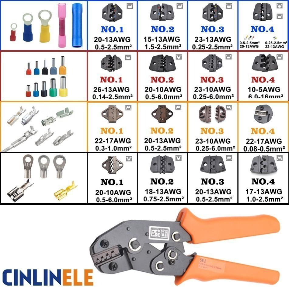 Ratcheting Crimping Plier Tool Wire Crimper Ideal for Insulated /& Bare Terminals