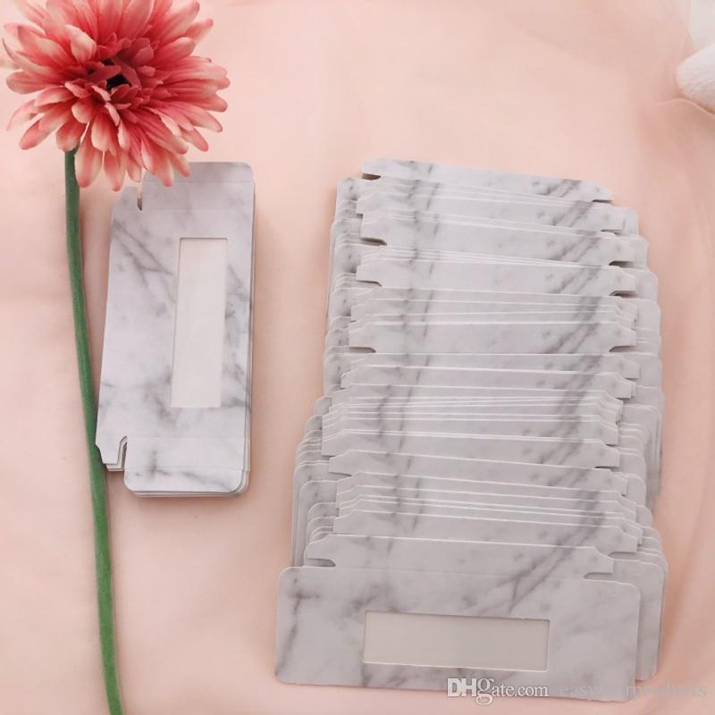 Marmor Leer Wimpern Verpackung für 25mm 27mm 3D Mink Wimpern Box ohne Wimpern billigen Papier Box