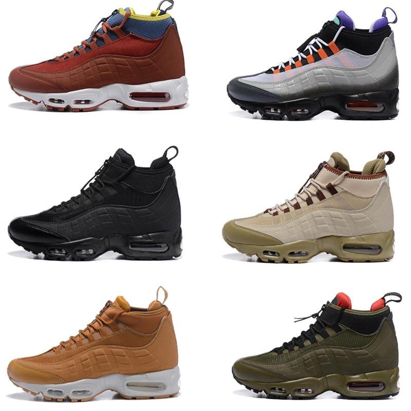 2020 Verde Army New 95s Mens Sneakerboot Preto Greedy botas vermelhas Designer homens alta Instrutor dos esportes Running Shoes Sneakers 7-12