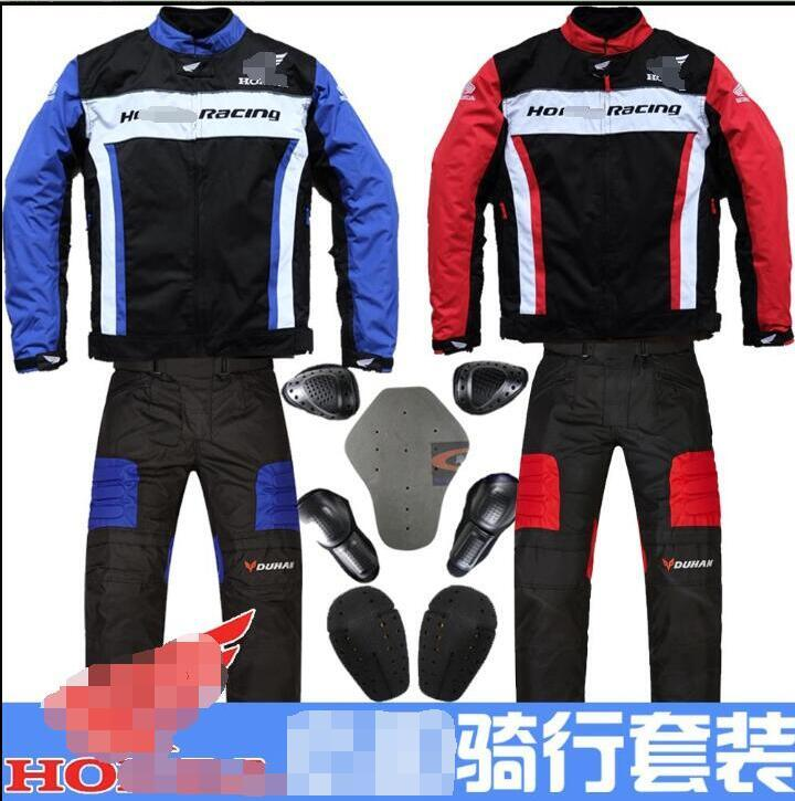 Off-road motorcycle riding suit, road motorcycle rider pants, street running racing jacket, anti-fall rally suit