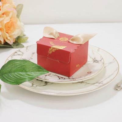 50pcs Praça papel de presente caixas de doces para crianças de aniversário de casamento favores embalagem requintados manuais Suprimentos Gift Box