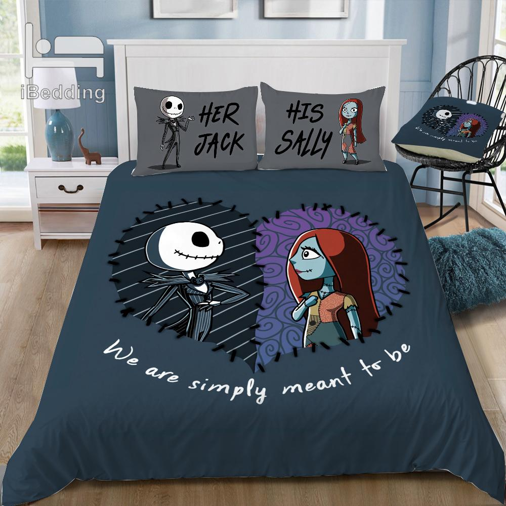 Nightmare Before Christmas Bedroom.Hot Movie The Nightmare Before Christmas 3d Bedding Set Printed Duvet Cover Set Twin Full Queen King Size Dropshipping Black And White Duvet Sets Blue