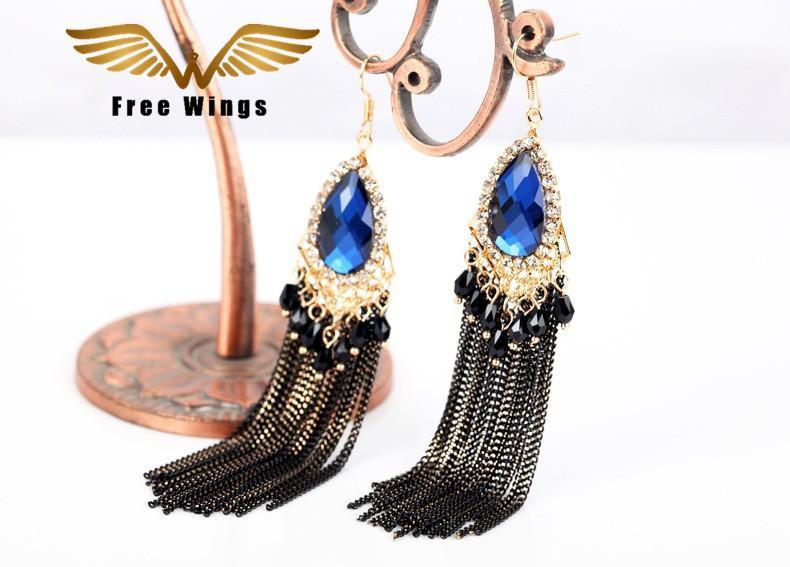 Sharefashion Retro Earrings Bohemian Style Tassel Drops Earrings