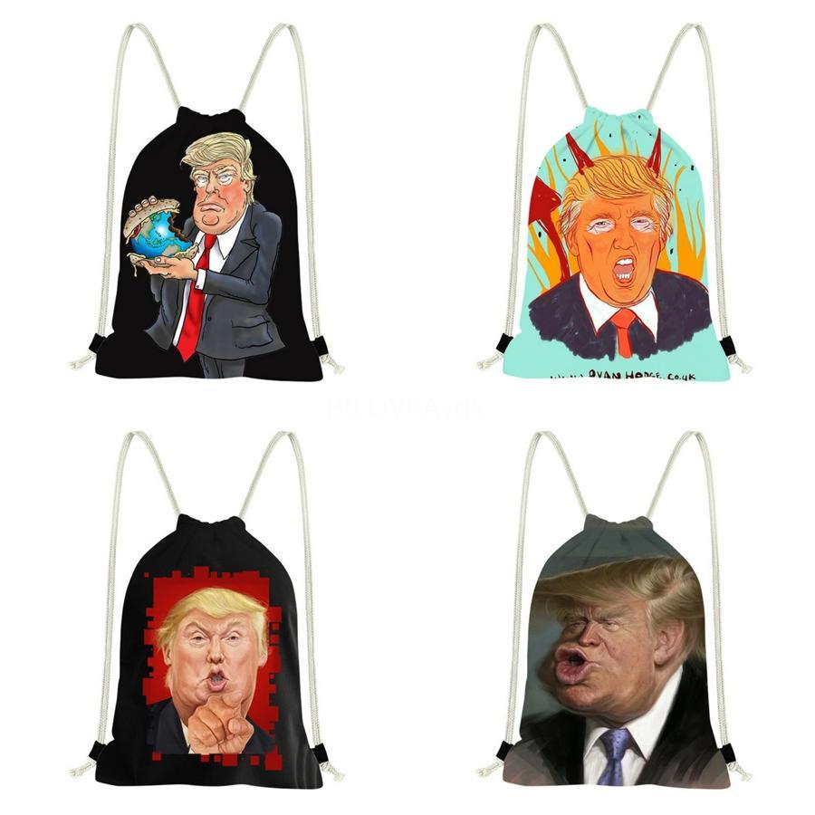 Luxo Backpack Bags Trump com grande capacidade Oxford Cloth Tote Bolsa Waterproof Single-ShoulderCross Bag Corpo quente L22 # 835