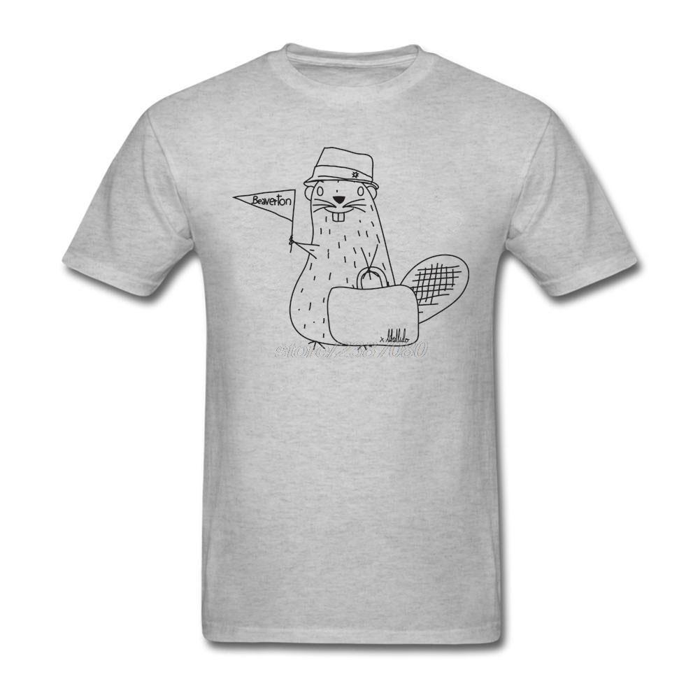 Camiseta Castor adulto en viaje Pre - Algodón Grandes camisetas Jóvenes 100% Algodón Camisetas con descuento