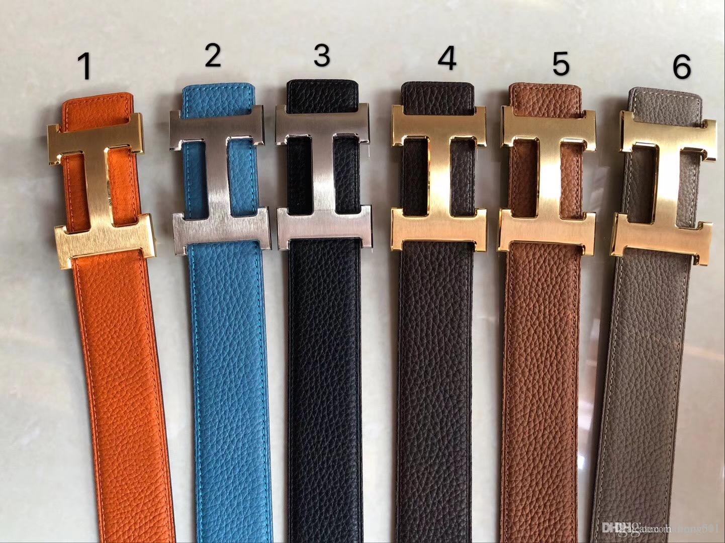 homens de alta qualidade uxury Cintos mens cowskin correia de couro do desenhador marca cintos para homem Cintos ouro prata Buckle shipping2020 livre