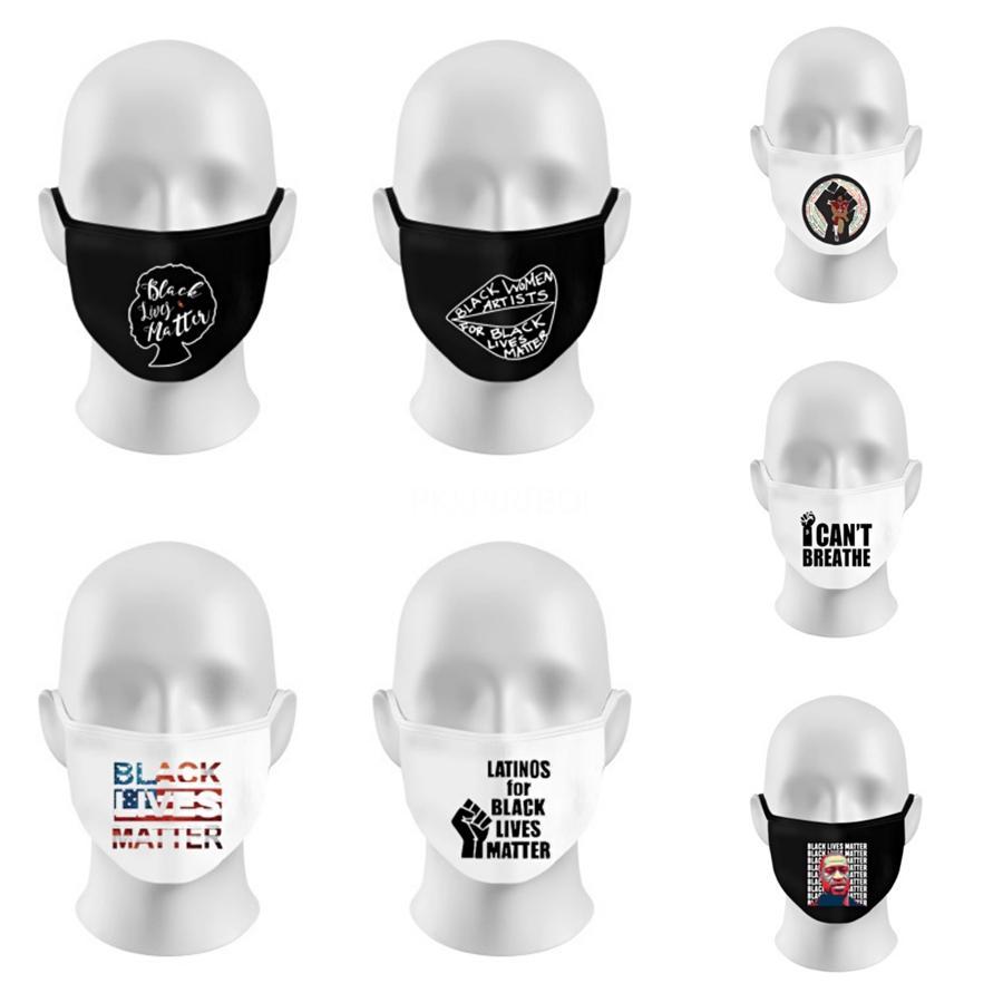 Us 2020 voto presidenziale Elezione Lettera Maschera 3D lettera polvere e foschia prova Panno Maschera riutilizzabile Designer Lettera Maschera T9I00394 # 171