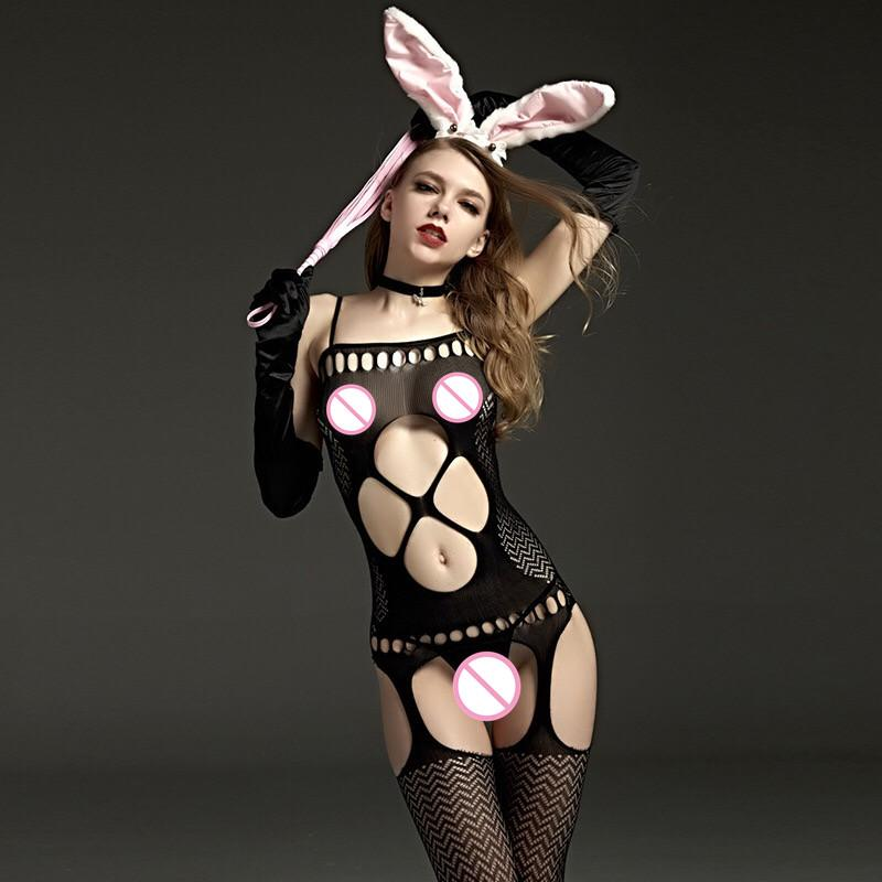 NEW 2019 Sexy Lingerie Pajamas Dress Stocking underwear women Fishing net sexy lingerie role clothes lady,1 set
