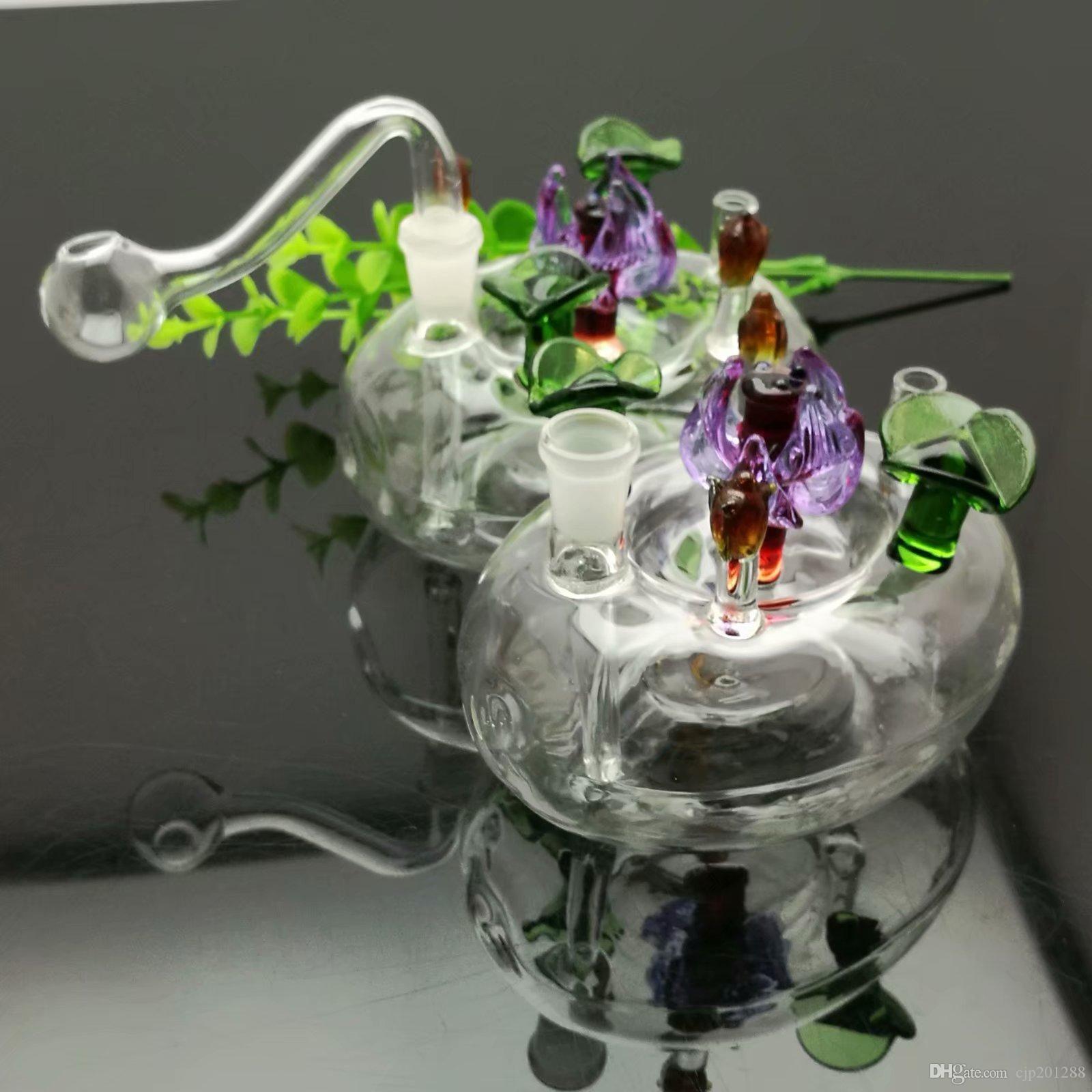 Flower clássico Bed Art Glass Grande pirex de vidro queimador de óleo Tubo Grosso plataformas petrolíferas tubo de água de vidro
