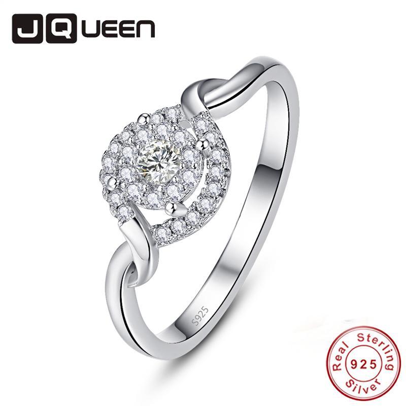 도매 럭셔리 로맨틱 트위스트 결혼식 S925 링 참 여성 쥬얼리 CZ 지르콘 약속 약혼 반지 기념일 생일 선물