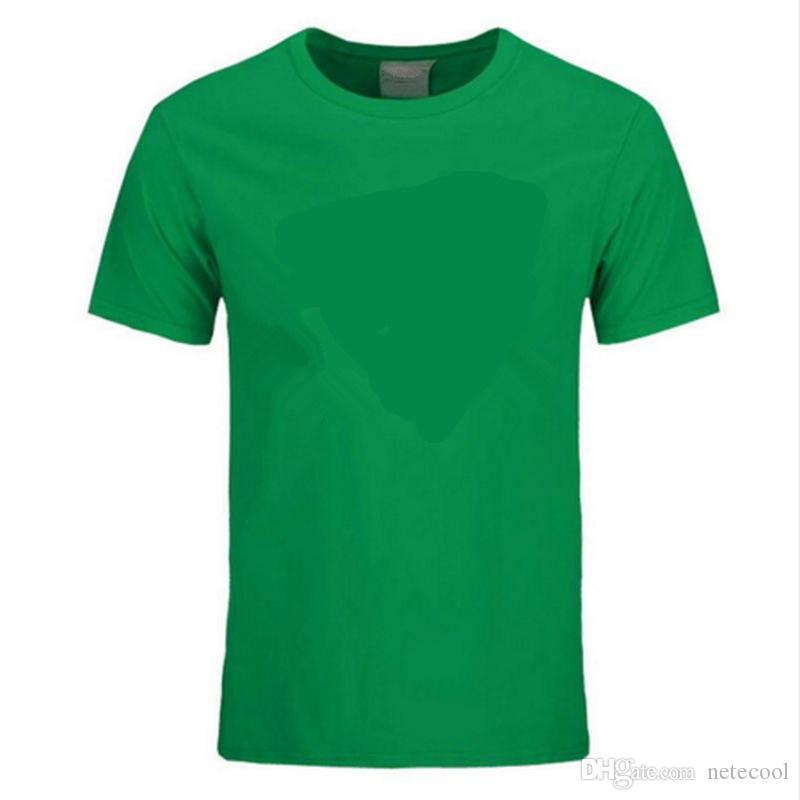 Nuevas camisetas divertidas de algodón de verano Camiseta de manga corta Hombres Marea con cuello redondo Diseño de marca Imprimir Camiseta roja Hombres Tops Camisetas