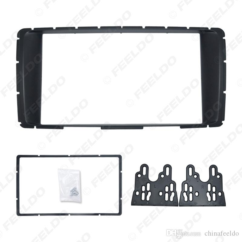Car 2-Din Stereo Panel For Toyota Hilux 2011+ Fascia Radio DVD Dash Installation Mount Trim Kit Face Plate Frame #4904