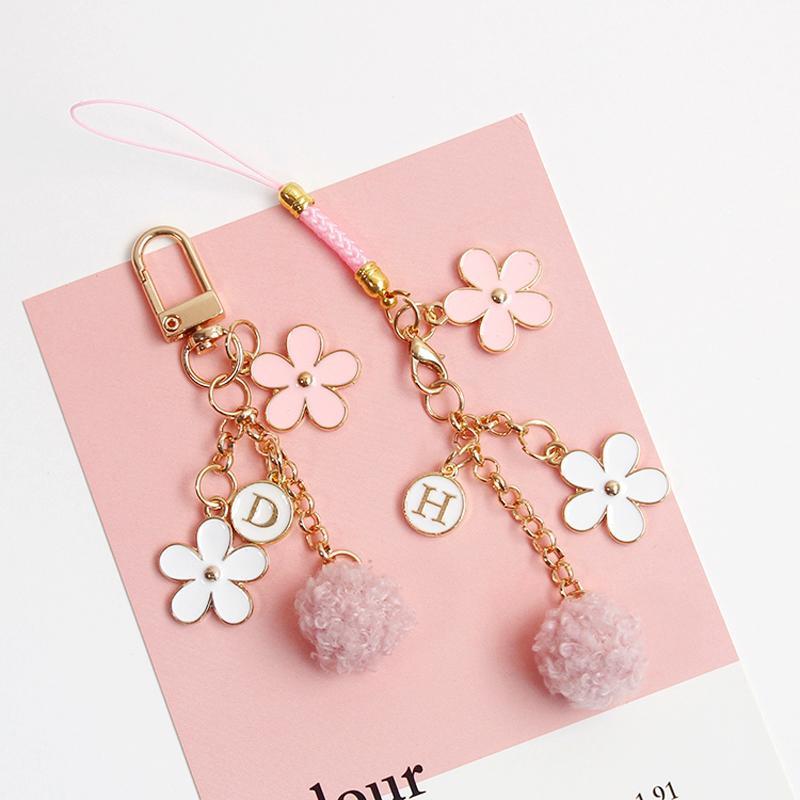 Fiore Gioielli dayoff Giappone Cherry Blossoms Fiore portachiavi di Keychain della ragazza delle donne per Cute Bag Holder chiave rosa portachiavi regalo K151