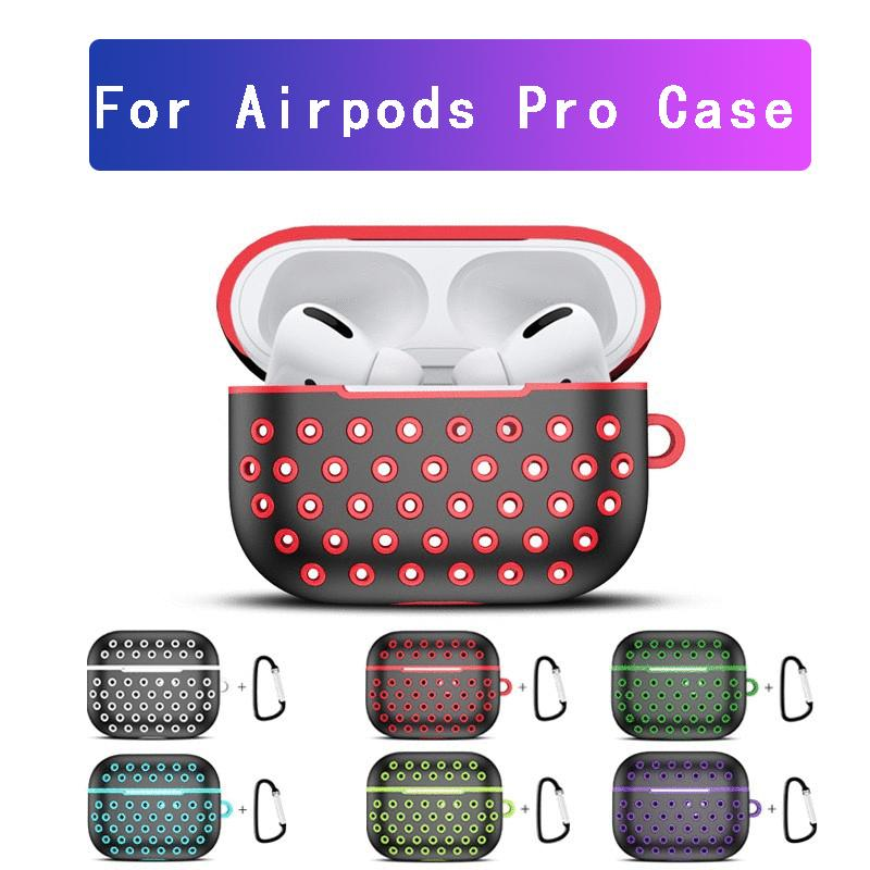 Lusso a due colori auricolare Custodia per Airpods Pro Honeycomb Designer Cover in silicone per Apple Wireless Bluetooth Headphone Protector