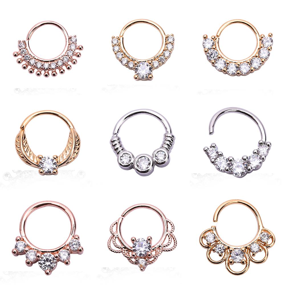 2020 New Arrival Copper Zirocn Crystal Hoop Nose Ring Nose Piercing Fake Piercing Septum Clicker Number Hanger For Women Jewelry From Luzhenbao523 12 68 Dhgate Com