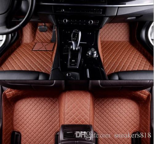 BMW 7 serisi 2004-2018 için Araba Paspaslar Halı Su Geçirmez pedleri Oto PaspaslarSu Geçirmez Ped Araba Mat Halılar Toksik Olmayan ve kokusuz paspas