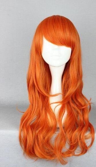 무료 배송 + + 코스프레 원피스 - 남이 애니메이션 여성 로리데이 파티 오렌지 합성 머리 가발