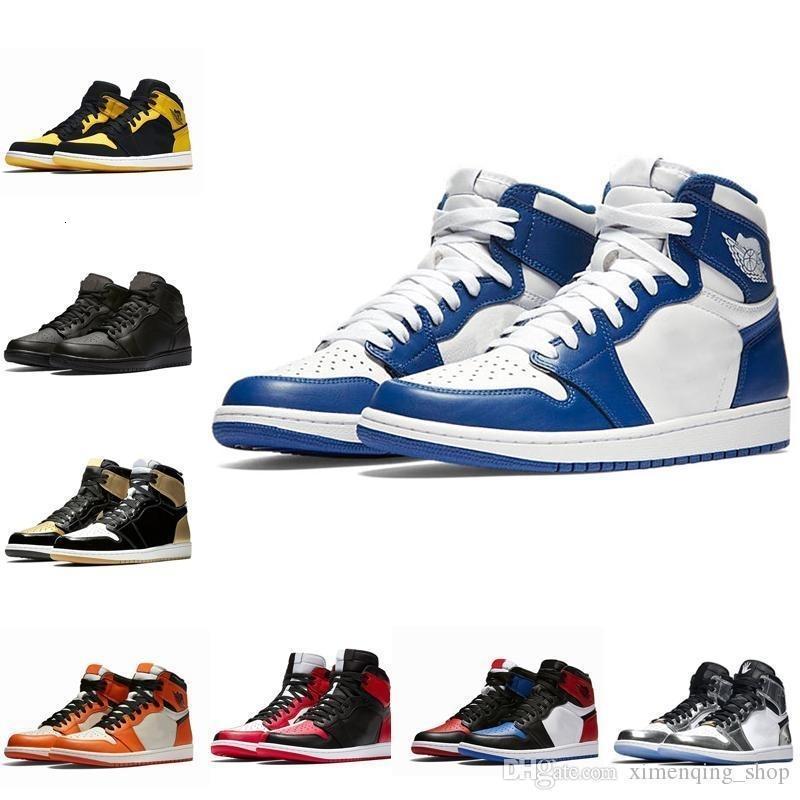 1 1S haute OG Hommes Chaussures de basket Banned Bred Toe Ombre Gold Top meilleure qualité Designer Mens Athletics V2 entraîneurs des espadrilles 40-47