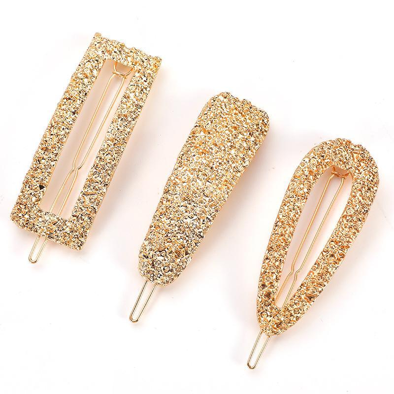 Mode-Mädchen-Haar-Greifer Geometrische nachgemachte Perlen-Hairpin Krabbe Retro-Herz-Form-Kristallhaar-Klipp-Haar-Zusätze für Frauen