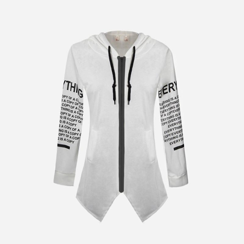 Fashion-Cardigan Hoodies for Women Long Sleeve Women Sweatshirt with Letter Print Sports Hoodies Youth Sweaters Tops Plus Size S-6XL