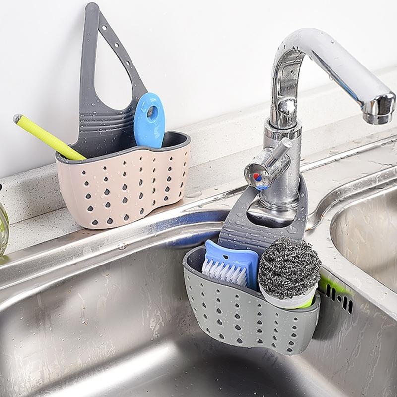 2019 Kitchen Sink Caddy Sponge Holder Organizer Bathroom Hanging Strainer  Storage Holder Sponge Towel Draining Rack Cleaning Tools From Copy03,  $35.15 ...