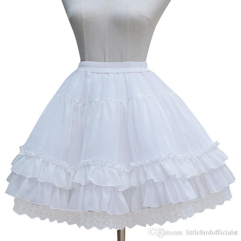 Chiffon Under Skirt Short A-line Cosplay Petticoat with Layered Ruffles