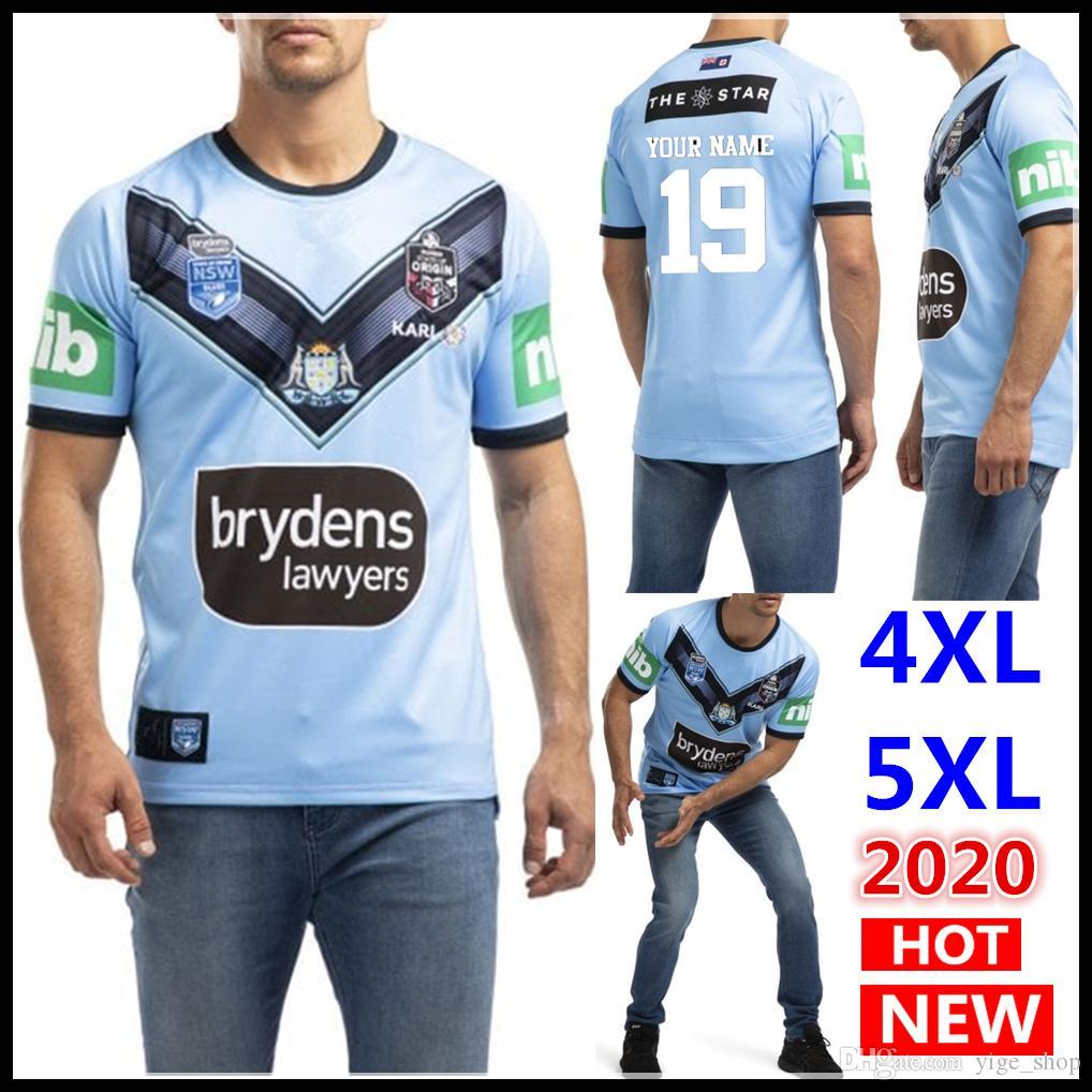 El nombre y el número 2020 de blues Australia NSW NSW Soo pro casero Jersey Jersey de rugby 2020 azules nueva Origen camisetas de la camisa de gran tamaño s-5XL