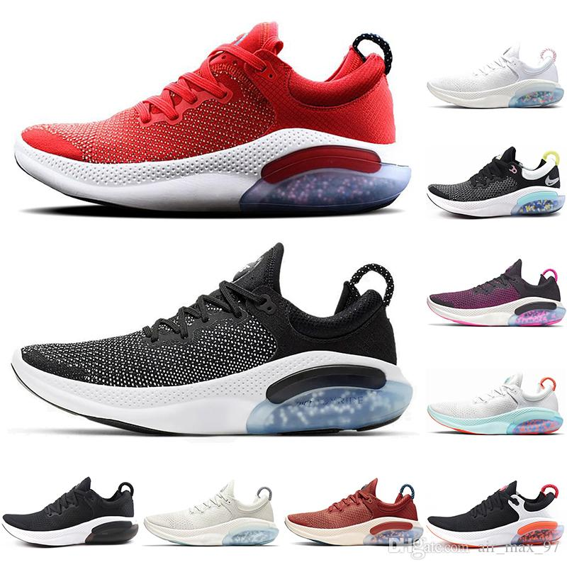 With socks Release Joyride Run FK Knit Running Shoes men women University Red White Sail Platinum Tint Racer mens trainers sneakers US5.5-11