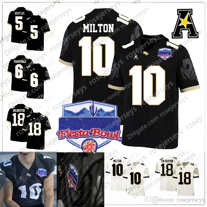 the latest 61b34 9c9d8 2019 NCAA UCF Knights #10 McKenzie Milton 18 Shaquem Griffin 5 Blake  Bortles 6 Brandon Marshall Black Dark Gray White 2018 Fiesta Bowl Jersey  From ...
