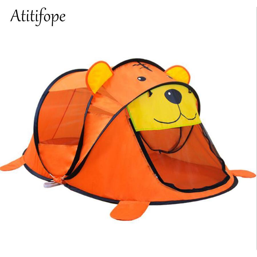 어린 이용 실외 및 실내 방수 곰 플레이 하우스 텐트 완구 최고의 생일 선물로 케이스 운반