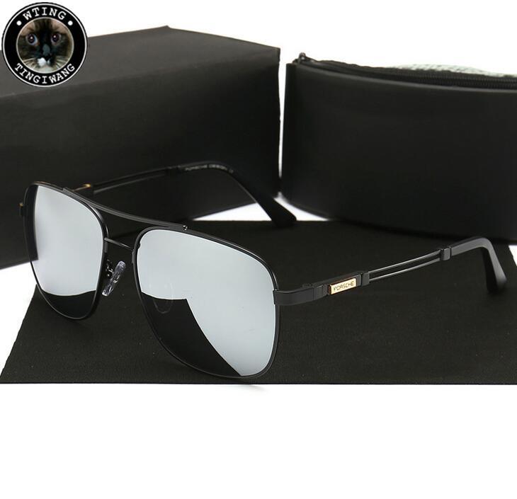 P8780 Brand Car Eyewear Design Classic Polarized Sunglasses Men Metal Driving Sun Glasses Male Coating Sunglass UV400 Shades Eyeglasses