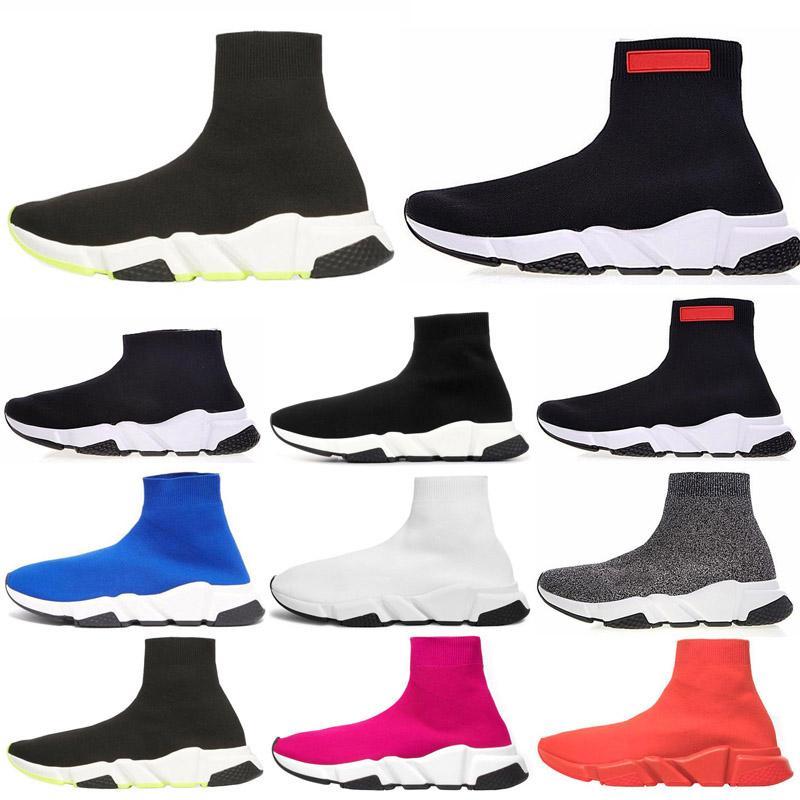 2020 NUEVO ACE Diseñador calcetín casual Zapatos Speed Trainer diseñador de lujo Triple Negro vintage Calcetines zapatillas de deporte zapatos casuales tamaño de la plataforma 36-45