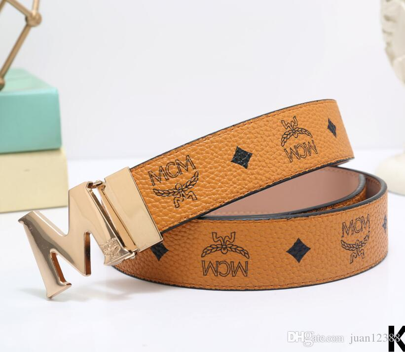 2018 Design brand Belt Men and Women Fashion Belts Leather Luxury Belt Brand Waist Belts Gold buckle