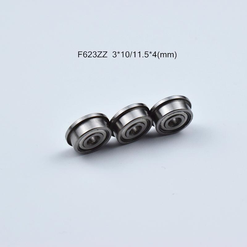 F623ZZ 플랜지 베어링 무료 배송 623 F623 F623Z의 F623ZZ 3 * 1011.5 * 4mm 크롬 스틸 베어링