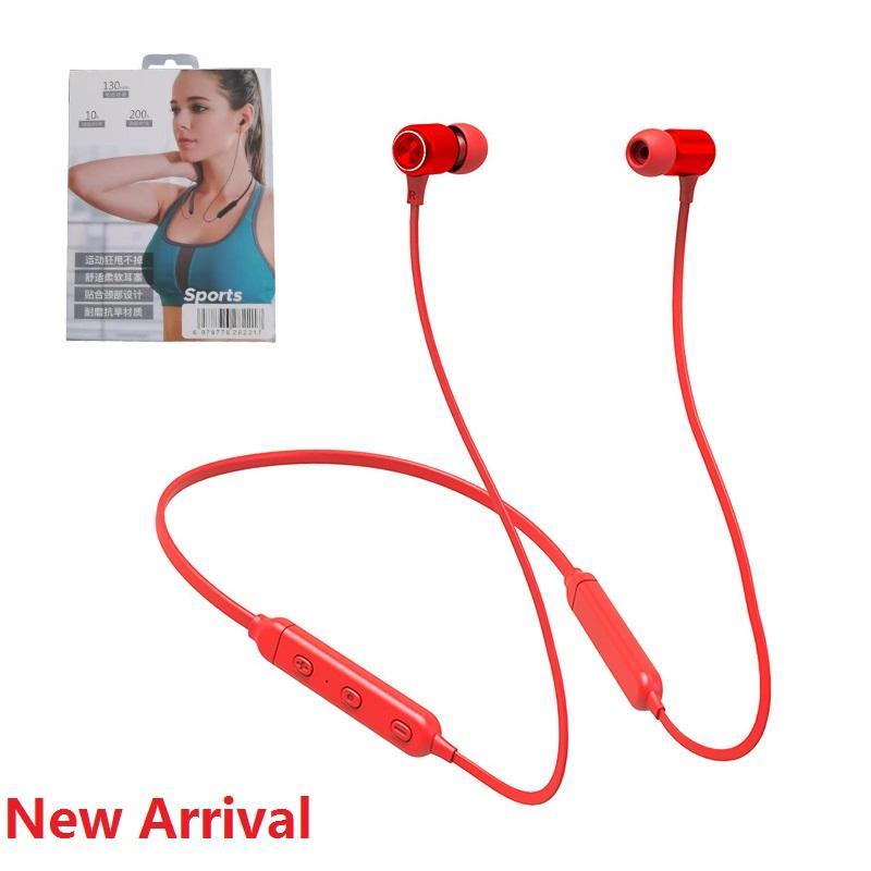 Подвесной Тип шеи Спорт Bluetooth гарнитура In-Ear стерео наушники Двойной универсальный для Iphone 11 Pro Max Samsung S20 Sony LG