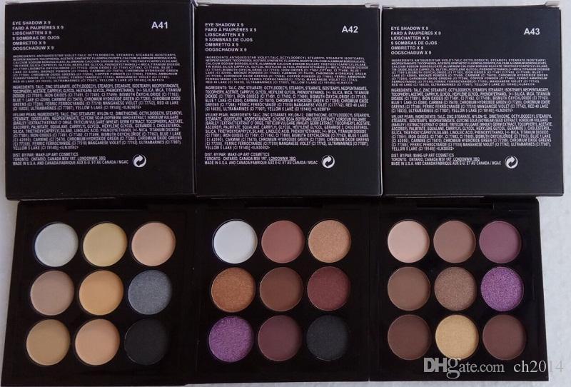 QUENTE! Nova Maquiagem Eye Shadow fard a paleta paupieres 9 cores Sombra de Olho 0.8g / 0.02 oz DHL Frete grátis