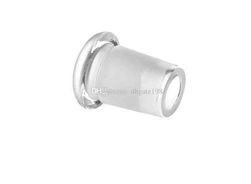 Vidro de Down Stem Tubo Adaptador Reduzir Adapter 18 milímetros Masculino a 14mm Feminino Redutor Connector Ash Catcher Slit Difusor para Bongos da tubulação de água