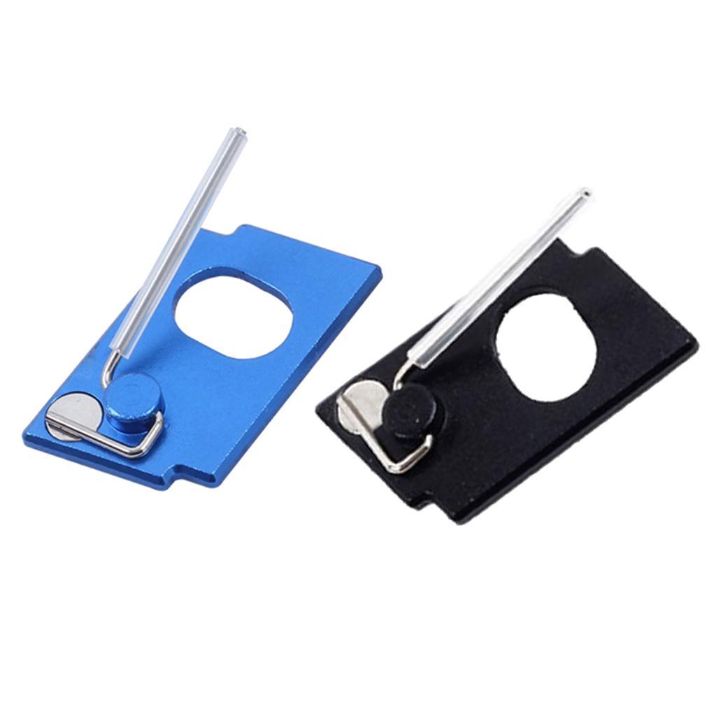 2 Herramientas Piezas de aluminio adhesiva Arco recurvado de tiro con arco resto de la flecha