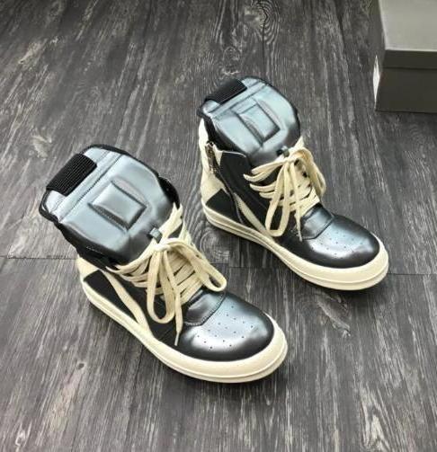 Ss Toe Et Remplacée Comme originale Tpu Sole haute en cuir véritable espadrille Rick Bottes Chaussures en plein air