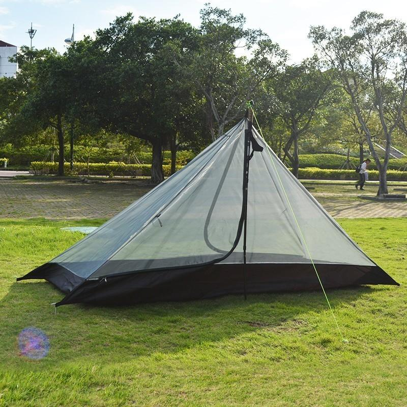 High Quality Single Person Mesh Tent Separated Dual Layer Waterproof Camping Tent One Room One Hall for Hiking Cycling Travel