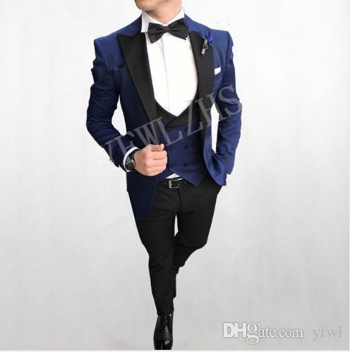 Custom Made smoking ternos de casamento do noivo homens ternos mens smoking figurinos de fumar pour hommes homens (jaqueta + calça + gravata + Vest) B135