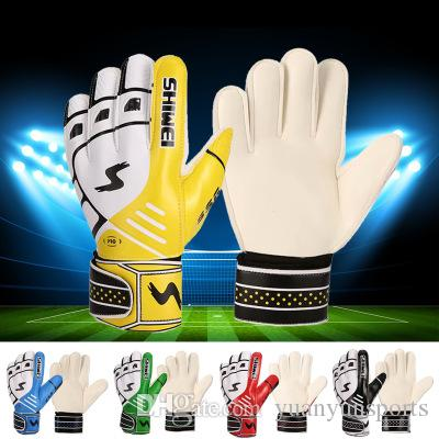 New Football Professional Goalkeeper Gloves Football Gloves with Fingers Protective Latex Adult Slip-proof Goalkeeper Gloves Gift