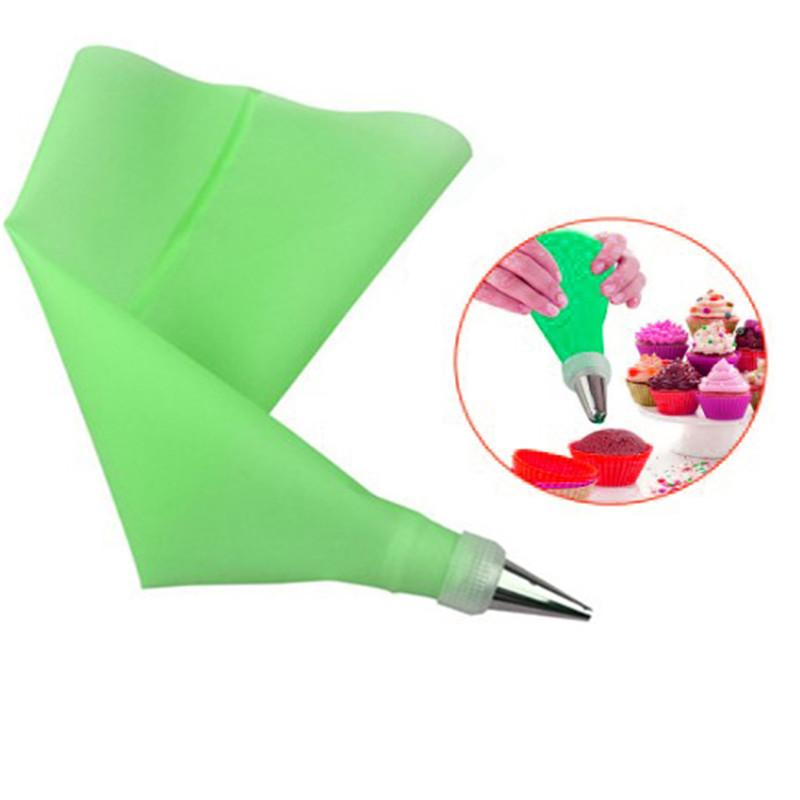 Baking Decorating Tools 1PC Reusable Confectionery Silicone Icing Piping Cream Pastry Bag squeeze Nozzle Cake Decoration