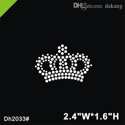 Frete grátis Mini crown ferro em cristal motivo de transferência hot fix strass motivo de pedra design de ferro em para a camisa, sapatos ba DIY DH2033 #